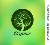 organic green tree logo  eco... | Shutterstock . vector #248108548