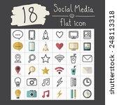 vector social media icons...