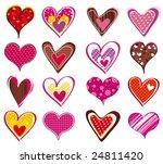 sixteen lovely  heart  vector...
