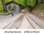 Old Railway Station And Iron...