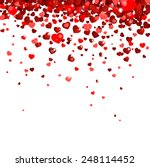confetti falling from red hearts | Shutterstock .eps vector #248114452