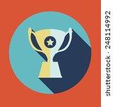 trophy icon design  vector... | Shutterstock .eps vector #248114992