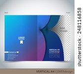 vertical a4 cover design | Shutterstock .eps vector #248116858