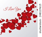 love poster design  vector... | Shutterstock .eps vector #248119615