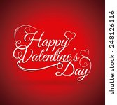 happy valentines day design ... | Shutterstock .eps vector #248126116
