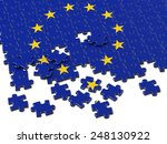 europe puzzle flag | Shutterstock . vector #248130922