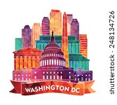 washington dc skyline. vector... | Shutterstock .eps vector #248134726