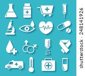 flat medical equipment set... | Shutterstock .eps vector #248141926