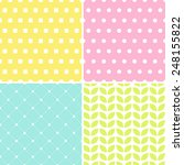 four classic background. polka... | Shutterstock .eps vector #248155822