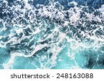 top view on sea waves | Shutterstock . vector #248163088