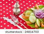 fresh vegetable salad with red... | Shutterstock . vector #24816703
