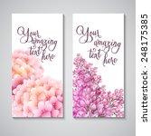 vector flower background | Shutterstock .eps vector #248175385