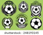 set of soccer football badge... | Shutterstock .eps vector #248193145