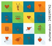 simple flat icons collection... | Shutterstock .eps vector #248199742