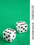 Double Six Dice Macro Closeup...