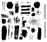 vector set of grunge brush... | Shutterstock .eps vector #248203306