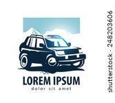 car vector logo design template.... | Shutterstock .eps vector #248203606