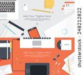 flat designed banners for...   Shutterstock .eps vector #248212822