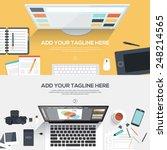 flat designed banners for...   Shutterstock .eps vector #248214565