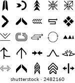 arrow icons    design elements  ... | Shutterstock .eps vector #2482160