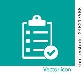 checklist icon | Shutterstock .eps vector #248217988