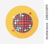 disco ball flat icon with long... | Shutterstock .eps vector #248241895