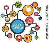 social advertising design ... | Shutterstock .eps vector #248245882
