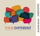 think different design  vector... | Shutterstock .eps vector #248245945