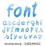 handwritten font. watercolor.... | Shutterstock .eps vector #248248432