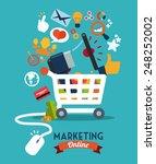 marketing online design  vector ... | Shutterstock .eps vector #248252002