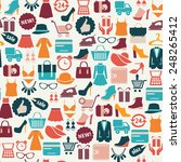 seamless vector background with ... | Shutterstock .eps vector #248265412