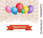 happy birthday text box  color... | Shutterstock .eps vector #248286922