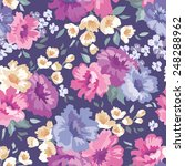 beautiful seamless floral... | Shutterstock .eps vector #248288962