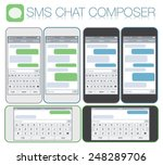 smartphone chatting sms... | Shutterstock .eps vector #248289706