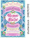 pink vintage wedding invite.  | Shutterstock .eps vector #248292592