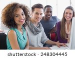 students working in computer...   Shutterstock . vector #248304445