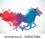 running horse | Shutterstock .eps vector #248307886