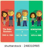 list of generation  baby boomer ... | Shutterstock .eps vector #248310985