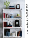 bookshelves with books and... | Shutterstock . vector #248312755