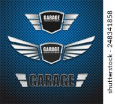 vintage garage retro label... | Shutterstock .eps vector #248341858