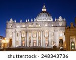 St. Peter Basilica in Rome, Italy - stock photo