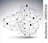 abstract deformed vector black... | Shutterstock .eps vector #248351626