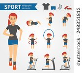 jogging woman  sport and... | Shutterstock .eps vector #248351812