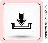 download sign icon  vector...   Shutterstock .eps vector #248365072