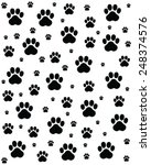 trace of cats  seamless vector... | Shutterstock .eps vector #248374576