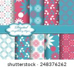 set of vector abstract pattern... | Shutterstock .eps vector #248376262