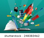 knowledge base   e learning... | Shutterstock .eps vector #248383462