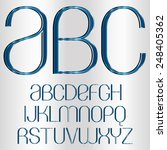decorative font   blue metallic | Shutterstock .eps vector #248405362