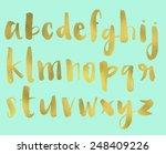 hand painted brush lettered... | Shutterstock . vector #248409226