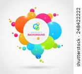 flat abstract vector colorful... | Shutterstock .eps vector #248422222